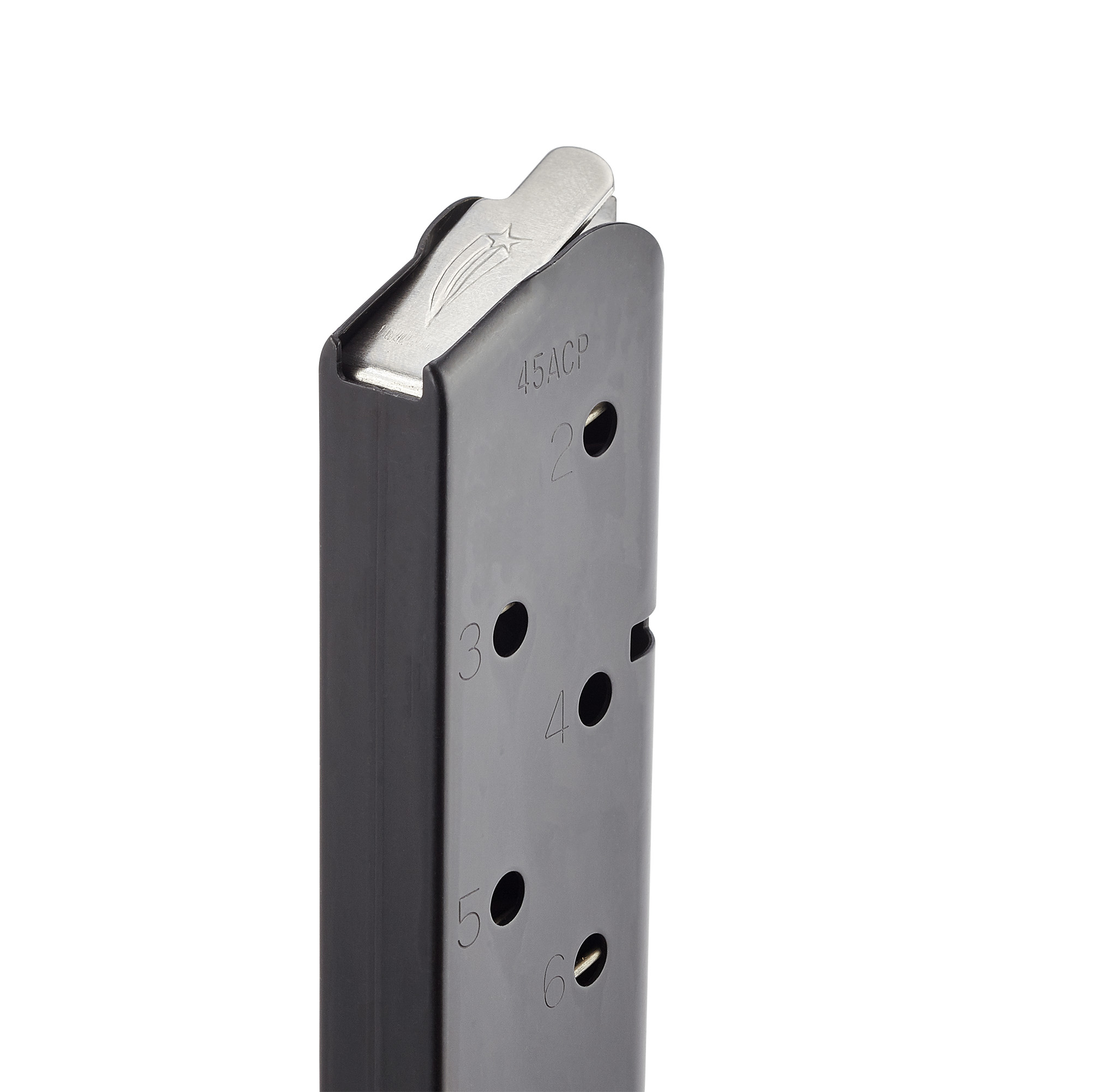 Power Mag | Full-Size 1911,  45 ACP, 8 Round, Stainless, Black Fluoropolymer