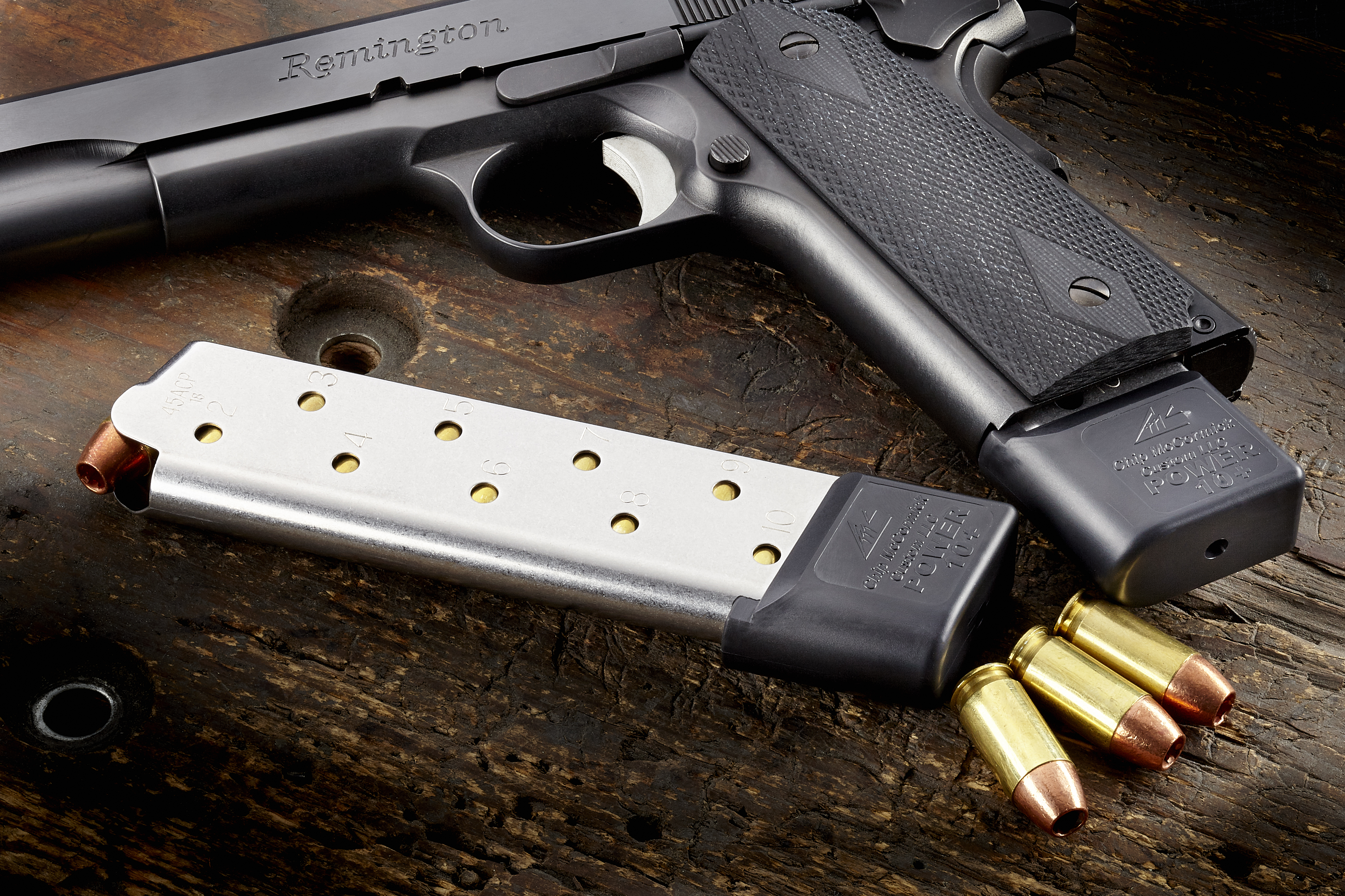Power Mag Plus | Full-Size 1911,  45 ACP, 10 Round, Stainless