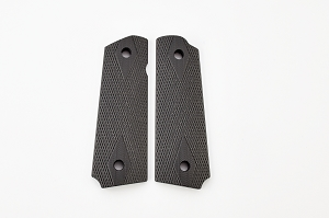 GRIPS, DOUBLE DIAMOND, G10, FULL SIZE, BLACK