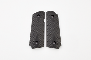 GRIPS, DOUBLE DIAMOND, G10, COMPACT, BLACK