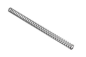BUFFER SPRING, FLAT WIRE, CHROME SILICON, 40 COIL